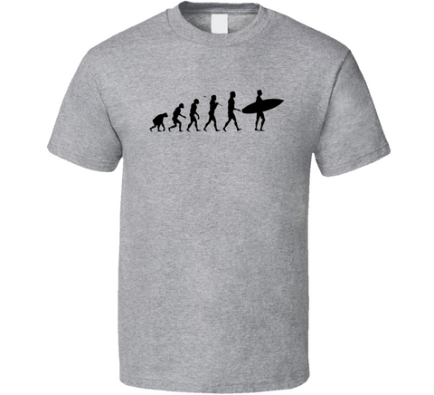 Surfing Evolution Men's Grey Surf T Shirt