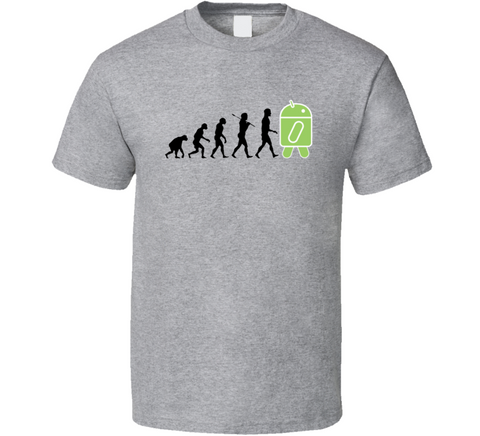 Android Evolution Funny Geek T Shirt