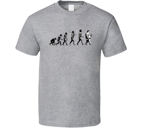 Survival of the Fattest Funny Grey T Shirt