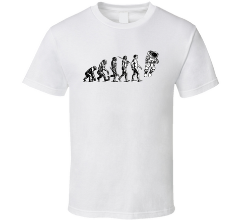 Space Man Evolution Martian Traveler T Shirt