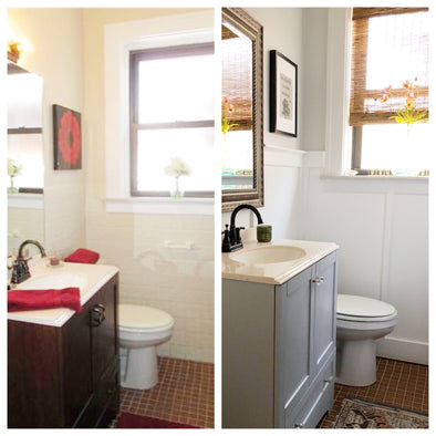 Before & After:  Inexpensive Small Bathroom Update