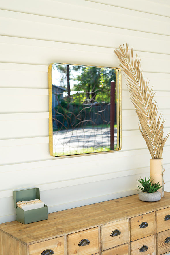 Square Mirror With Metal Frame