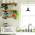 Industrial Floating Shelf + Pipe Brackets