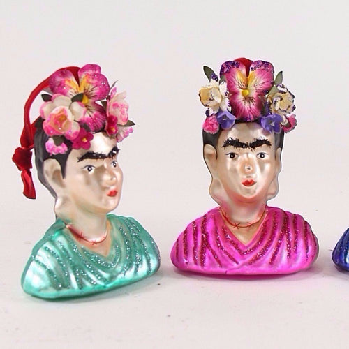 Glass Frida Kahlo Ornament-ornament-Cody & Foster-Delirious by Design