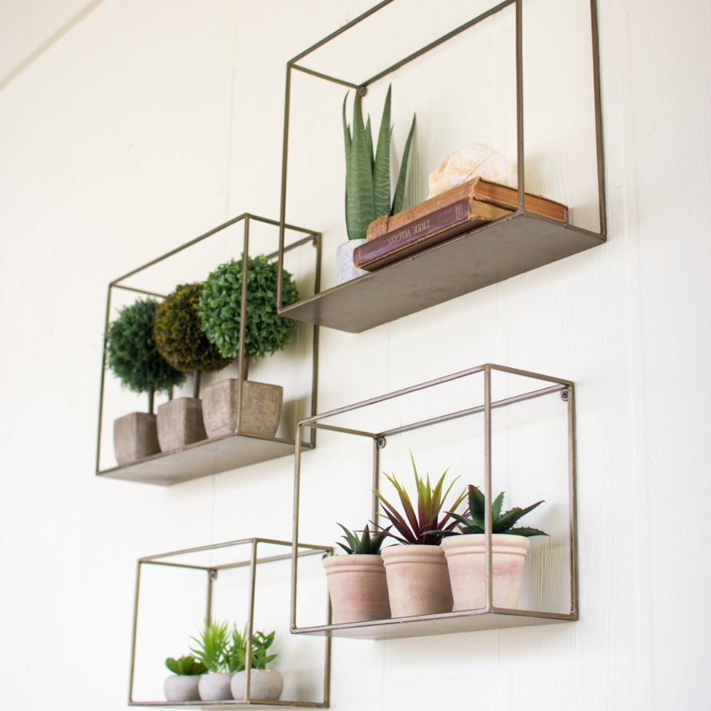 . Set of 4 Metal Shelves