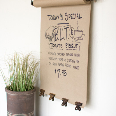 HANGING NOTE ROLL - Wall Decor - Delirious by Design