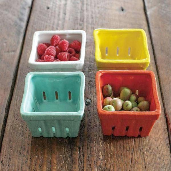 Stoneware Berry Basket - Kitchen Storage - Delirious by Design