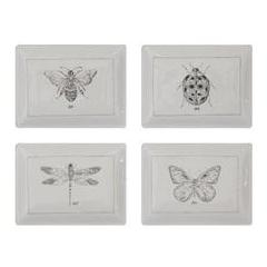 Set of 4 Insect Plates - Summer decor - Delirious by Design