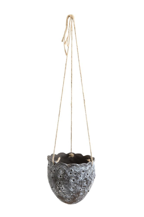 Stoneware Hanging Flower Pot - Wall Decor - Delirious by Design