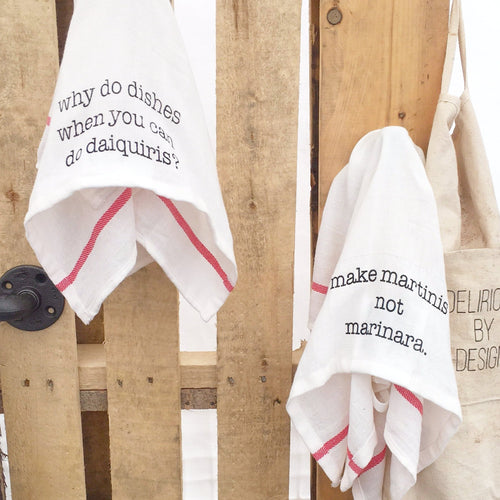 Tea Towels - Kitchen Towel - Delirious by Design