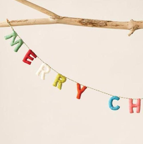 Felt Merry Christmas Banner-Delirious by Design-Delirious by Design