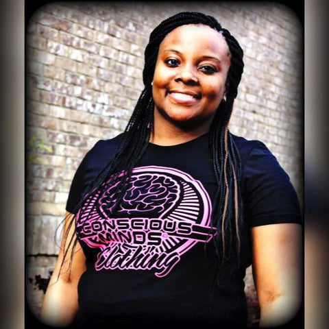 Hot Pink/Black-Ladies Tee