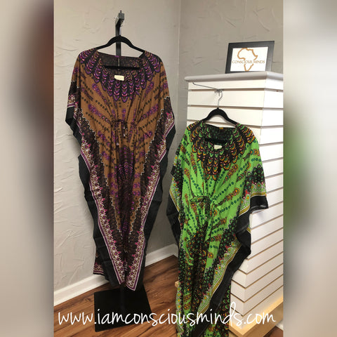 African Inspired Kaftan Dress