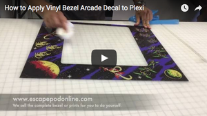 How to Apply Vinyl Bezel Arcade Decal