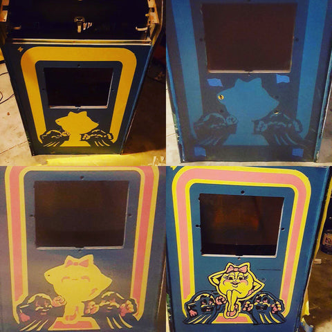Stencils or Decals for Arcade Restoration?
