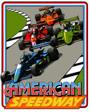 American Speedway Side Art Decals