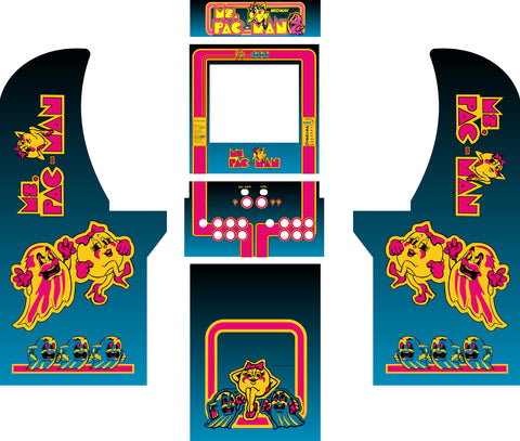 Arcade1Up - Ms. PacMan Complete Art Kit