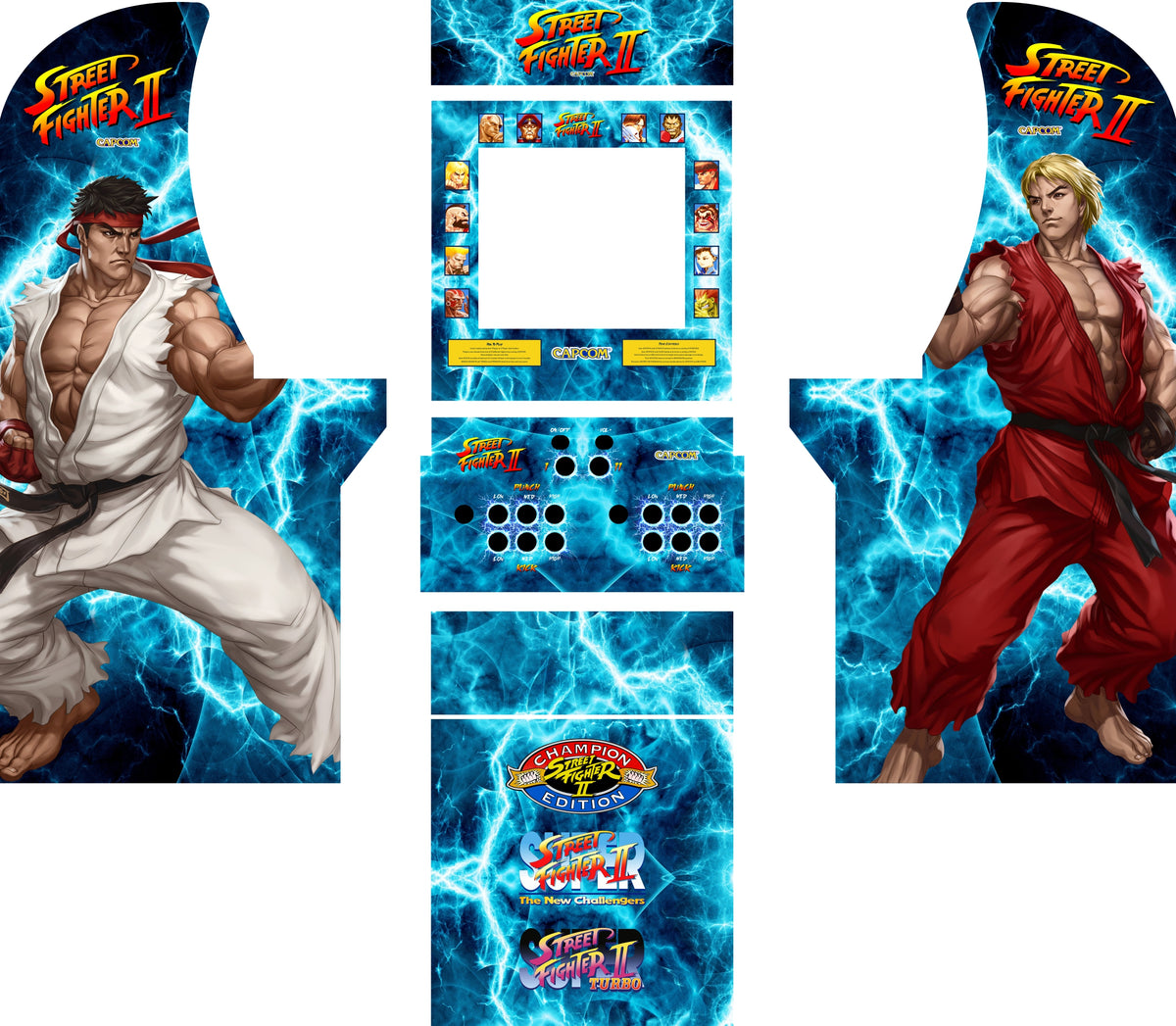 street fighter 2 arcade side art
