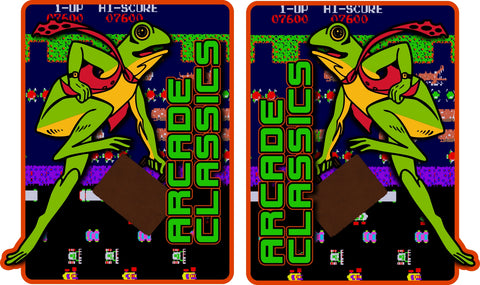 Arcade Classics Multicade Side Art - Frogger Theme