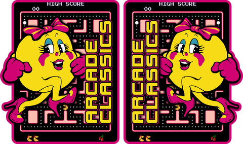 Arcade Classics Multicade Side Art - Ms. PacManTheme