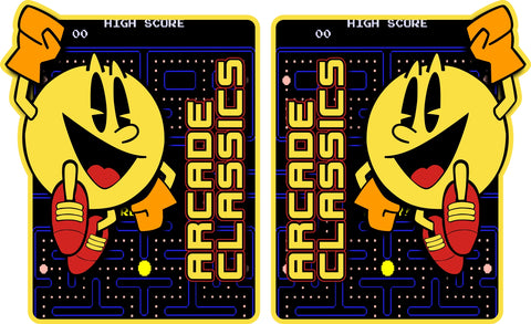 Arcade Classics Multicade Side Art - PacMan Theme