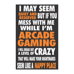 Arcade I go Crazy Sticker