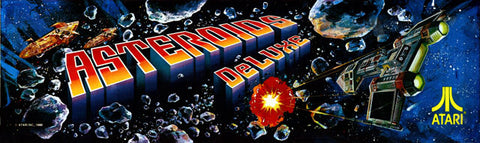 Astroids Deluxe Arcade Marquee