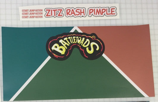 BattleToads CPO - Control Panel Overlay- Die Cut Version