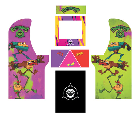 Arcade1Up - NEW Battletoads Complete Art Kit