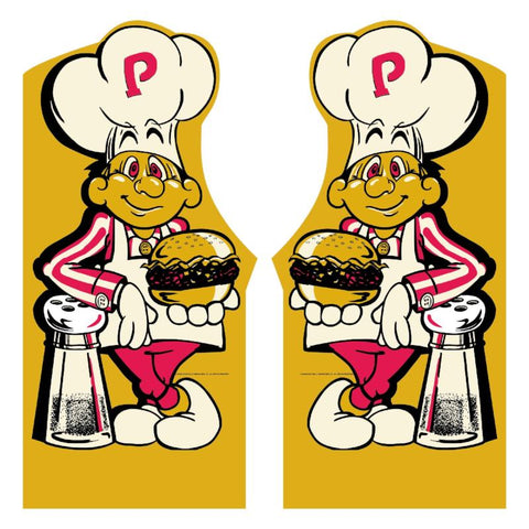BurgerTime Side Art Decal Set