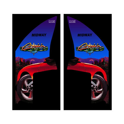 Cruis'n World Arcade Side Art Decals