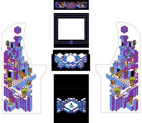 Arcade1Up - Crystal Castles Complete Art Kit