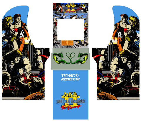 Arcade1Up - Double Dragon II The Revenge Arcade Complete Art Kit