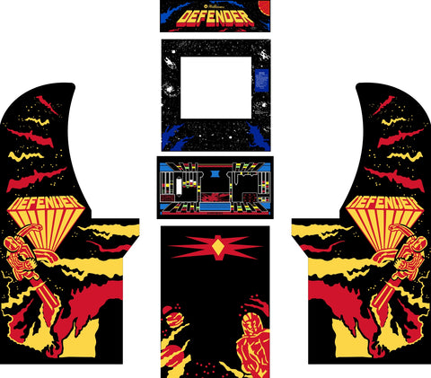Arcade1Up - Defender Complete Art Kit