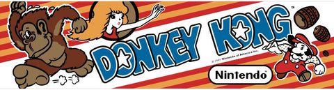 Donkey Kong Arcade Game Marquee
