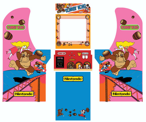 Arcade1Up - Donkey Kong Complete Art Kit