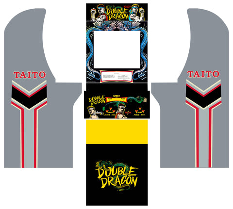 Arcade1Up - Double Dragon Complete Art Kit