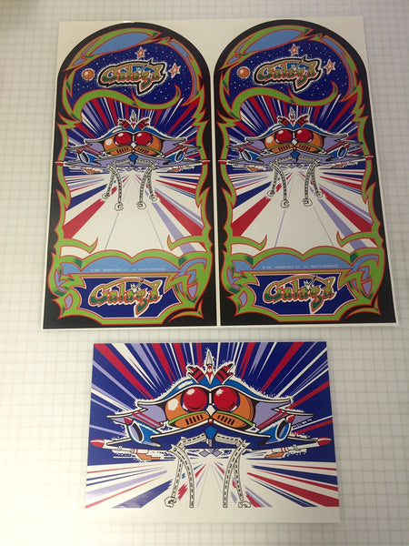 Galaga Side Art & Kick Plate 3 Piece Set