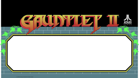 Gauntlet II 2 Marquee - Speaker Cover - Video Game Arcade