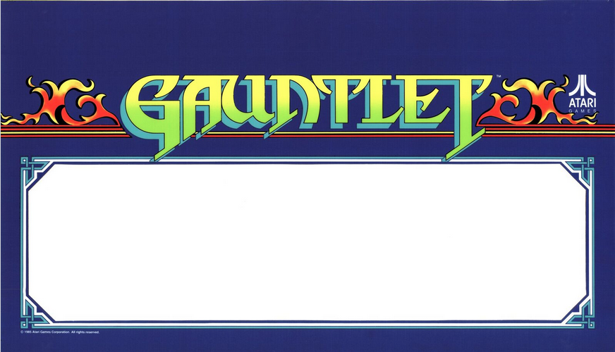 Gauntlet Marquee - Speaker Cover - Viedo Game Arcade