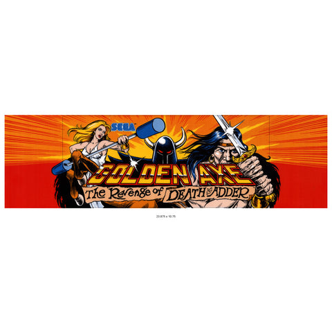 Golden Axe 2: The Revenge of Death Adder Arcade Marquee