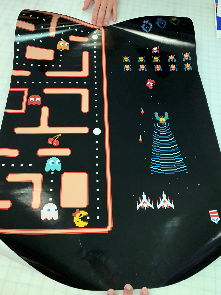 Ms Pac Man Galaga 20 Year Reunion Kickplate Decal