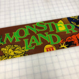 Vintage - Monster Land Arcade Marquee