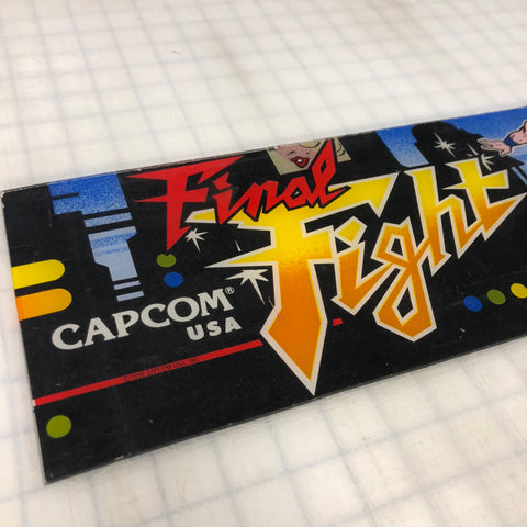 Vintage -  Final Fight Arcade Marquee