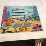 Vintage - Gottlieb's Quick Draw Pinball Back Glass