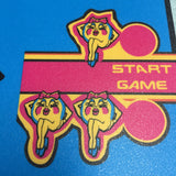 Ms Pac-Man Cocktail Arcade Control Panel Overlay - CPO