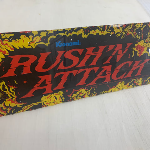 Vintage - Rush'n Attack Arcade Marquee