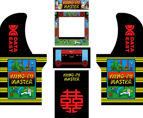 Arcade1Up - Kung-Fu Master Complete Art Kit