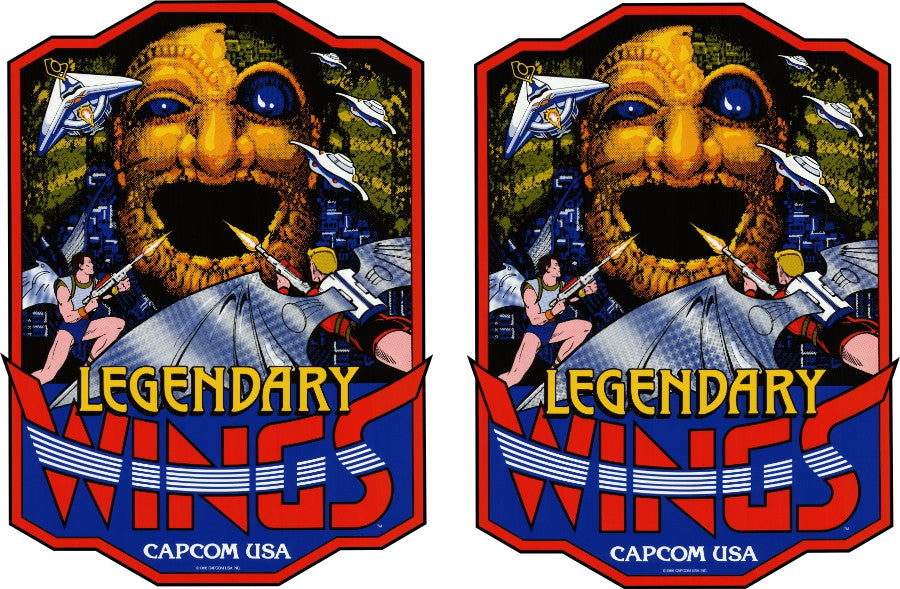 Legendary Wings (Capcom) Side Art Decals