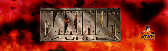 Maximum Force Arcade Marquee